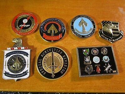 7 CIA Central Intelligence Agency & Special Ops Challenge Coins SAD SOG JSOC
