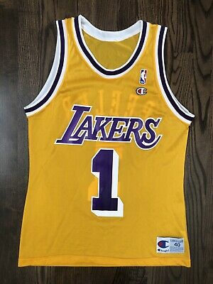 c1fbe8433511 RARE Vintage ANTHONY PEELER  1 Los Angeles LA Lakers Champion Jersey Size  40 M