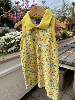 Ralph Lauren yellow polo vest floral kids size 8-10yrs occasionally worn