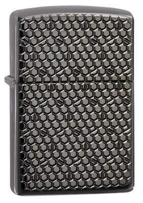 Zippo Windproof Armor Lighter With Engraved Hexagon Design, 49021, New In Box
