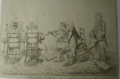 Caricature ,LONDON,H HUMPHREY 27 S JAMES ST 1798 A COUNTRY CONCERT GILLRAY ???