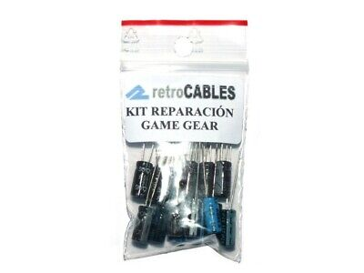Kit reparación Sega Game Gear repair condensadores capacitors+alimentación
