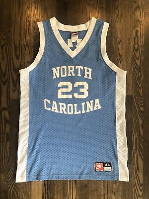 2a66e8495c4 NIKE Authentic MICHAEL JORDAN #23 UNC North Carolina Tar Heels Jersey 44  Large L