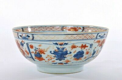 17th Century Chinese Kangxi Export Imari Style Famille Rose Porcelain Large Bowl