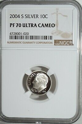 2004 S Roosevelt Silver 10C Dime PF-70 Ultra Cameo