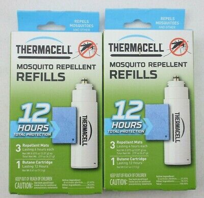 Thermacell Mosquito Repellent Refill Pack 12 Hour   2 Boxes