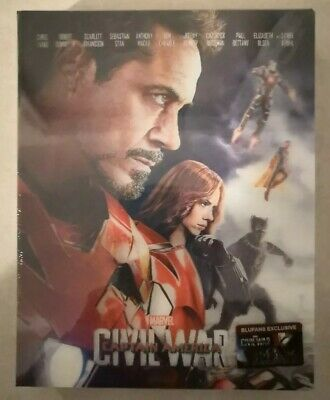 Steelbook Blufans Captain America Civil War Edition Double Lenticulaire Iron Man