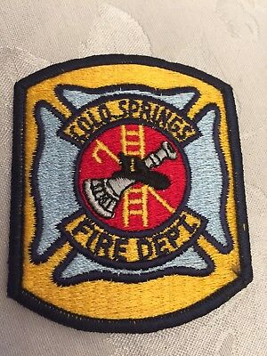 Independence OH Fire department patch 3-5//8 inch dia Cheesecloth back #811