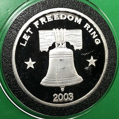 Liberty Bell Let Freedom Ring Eagle Coin 1 Troy Oz .999 Fine Silver Round Medal