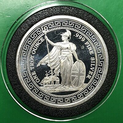 Britannia Chinese Characters Rare Coin 1 Troy Oz .999 Fine Silver Round Medal