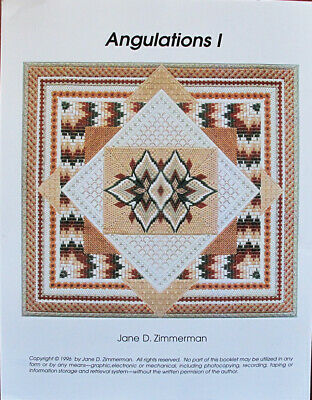 Jane Zimmerman Angulations I Counted Needlepoint Chart/Pattern