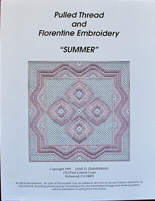 Jane Zimmerman Pulled Thread & Florentine Embroidery - Summer Chart/Pattern