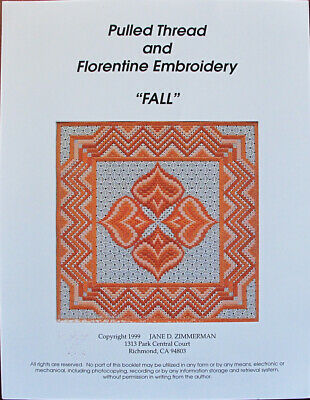 Jane Zimmerman Pulled Thread & Florentine Embroidery - Fall Chart/Pattern