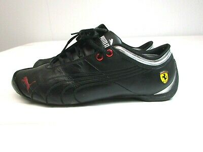 8b1a9c7f Men's PUMA FERRARI FUTURE CAT M1 SF Black & Red Leather Driving Sneakers  10.5