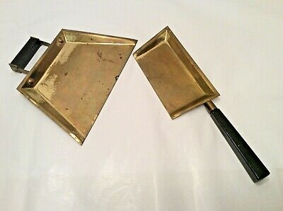 Vintage Brass Table Crumb CatcherS Sweeper Silent Butler -Set of 2