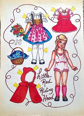 LITTLE RED RIDING HOOD Paper Doll by Pat Frey 1982 National doll World Mag