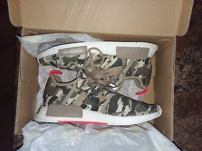 06e74ee054a14   Men s ADIDAS NMD R1 Camo Pack Sz10 G27915 CLEAR BROWN BOOST RUNNING SHOES!