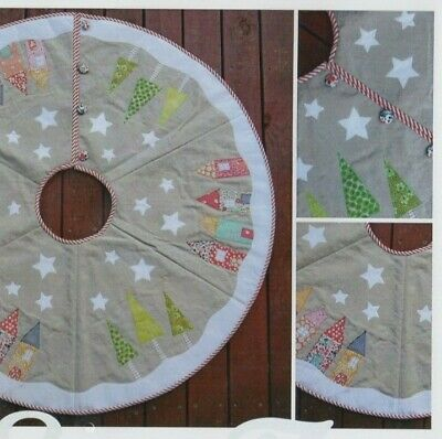 PATTERN - Yuletide Tree Skirt - simple pieced & applique Christmas PATTERN
