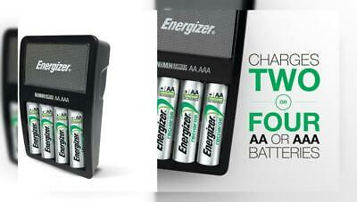 Energizer Rechargeable AA and AAA Battery Charger (Recharge Value) with 4...