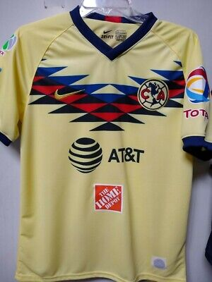 huge discount 0b5c4 bade5 NIKE CLUB AMERICA Sz L 2018 Green Attack Jersey Verde ...
