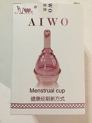 Aiwo NEW Medical Grade Silicone Reusable Feminine Care Period Menstrual Cup PINK