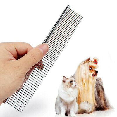 NEW Pets Dog Cat Hair Brush Flea Stainless Steel Pin Grooming Comb Trimmer Tool
