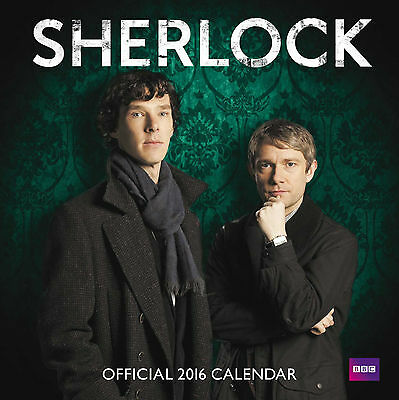 Official Sherlock 2016 Square Wall Calendar 9781780548609 New & Sealed