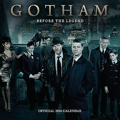 The Official Gotham 2016 Square Wall Calendar - New & Sealed. Out of print.