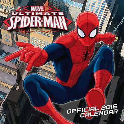 The Official Ultimate Spiderman 2016 Wall Calendar - New & Sealed. Out of Print