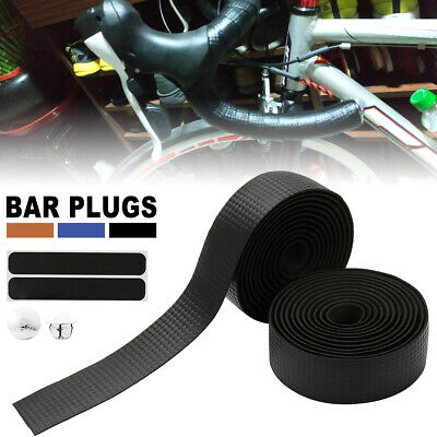 Carbon Pattern Handle Bar Handlebar Grip Wrap Tape Bike Cycling Road Bicycle US