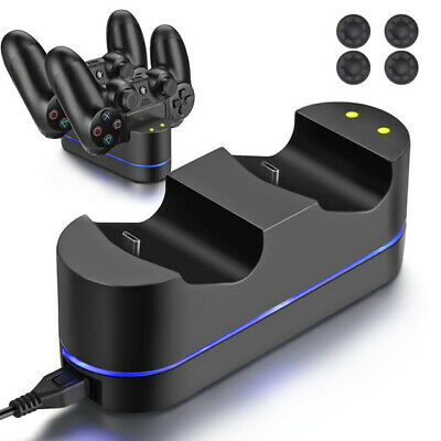 PS4 Controller Fast Charging Station Dock Stand Dualshock USB Cable Charger Base