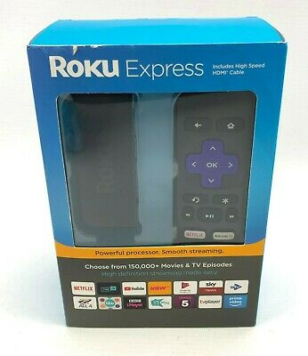 Roku Express HD Streaming Player - High Speed HDMI cable included - 9056616