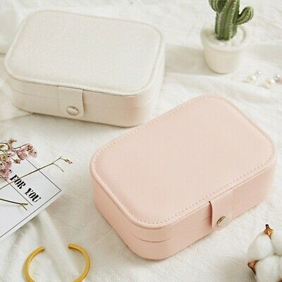 Portable Lady Earring Ring Jewelry Display Storage Box Case Travel Organizer