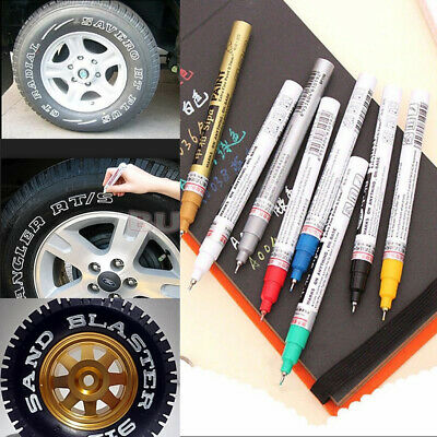 Colorful Waterproof Permanent Paint Marker Pen Car Tire Tread Rubber Metal AW