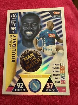CHAMPIONS LEAGUE MATCH ATTAX 2018-2019 Man of the Match/Mega Signing #397 - #428