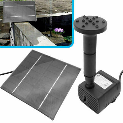 Solar Fountain Water Pump Garden Pond Pool Submersible Watering 200L/H Filter