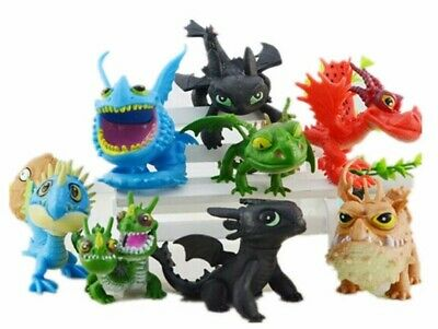 8 Pcs/set How To Train Your Dragon 2 Figures Night Fury Toothless PVC Figures