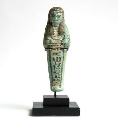 Third Intermediate period Shabti with hieroglyphs: Circa 1100-900 BC.