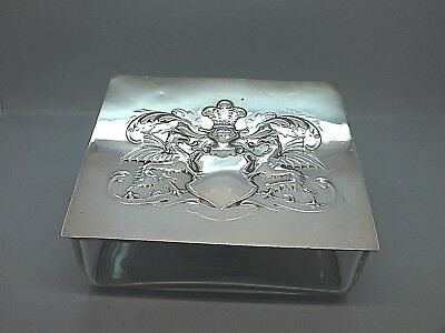 Superb Edwardian Glass & Silver Plate Table Cigar Box from the WMF Factory c1905