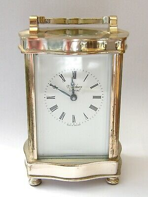 Vintage Silver Plated Carriage Clock With Platform Escape-GWO-Fema-London-c1950s