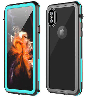 For iPhone Xs / Xs Max Waterproof Case Full Body Ultra-thin Rugged Shock Cover