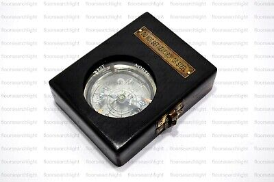Royal Navy Compass DOLLOND LONDON 1920 Compass With Black Wooden Box Gift