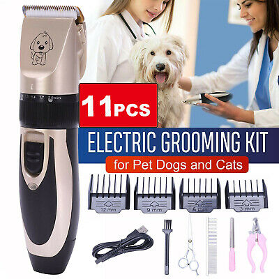 UK Electric Pet Dog Cat Grooming Clippers Low Noise Cordless Hair Shaver Trimmer
