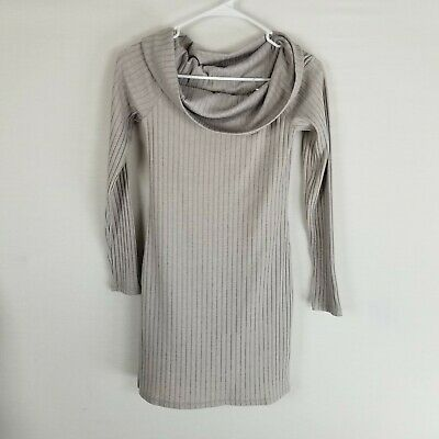 eb6e1019d UO Urban Outfitters Silence & Noise long sleeve ribbed cowl neck dress  beige S