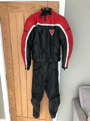 Ladies Dainese motorbike two piece leathers womens