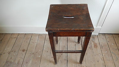 Antique / VINTAGE SCHOOL STOOL  Possibly Victorian or Edwardian