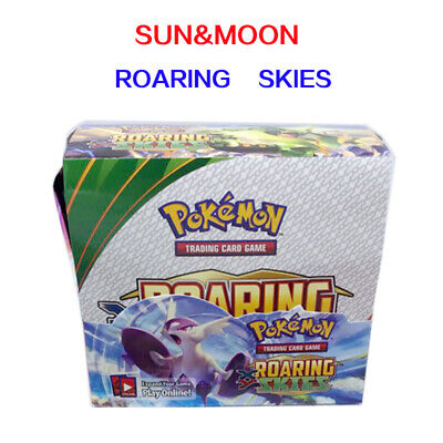 324pcs (36 pack) POKEMON SUN & MOON Roaring Skies BOOSTER BOX English
