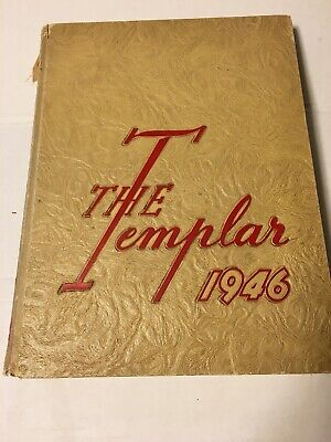 1946 THE TEMPLAR Temple University Philadelphia, PA Yearbook