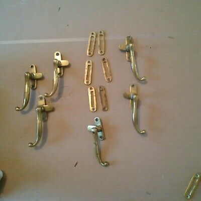 Antique English Brass Casement Window Handles Latches - PRICED INDIVIDUALLY