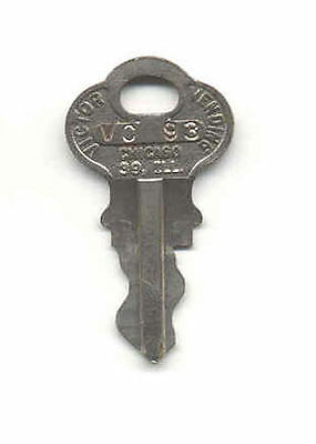 1 - Original Chicago Lock Company Key For Gumball / Candy / Toy & Nut Machines